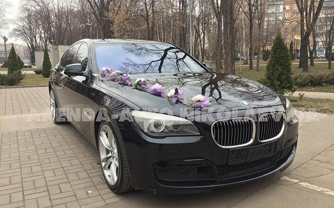 Аренда BMW 7 2014 на свадьбу Николаев